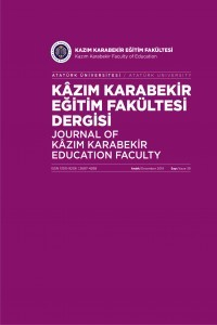 Journal of Kazım Karabekir Education Faculty