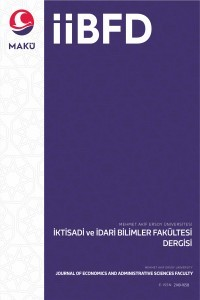 Journal of Mehmet Akif Ersoy University Economics and Administrative Sciences Faculty