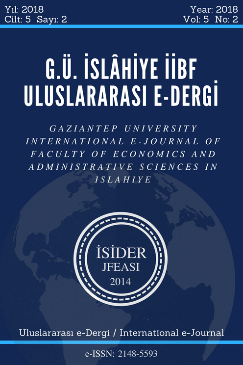 Gaziantep University International E-Journal of Faculty of Economics and Administrative Sciences in Islahiye