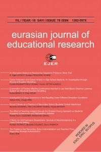 Eurasian Journal of Educational Research